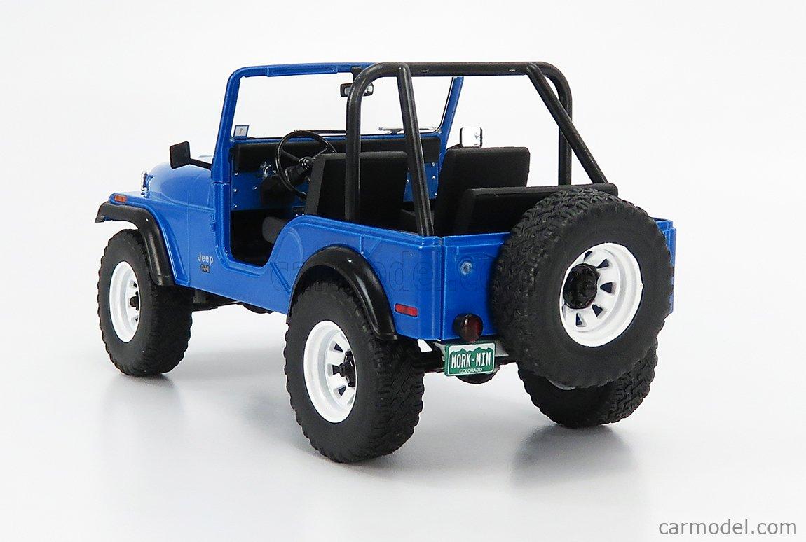 GREENLIGHT 19079 Masstab: 1/18  JEEP CJ-5 OPEN 1972 - MORK & MINDY BLUE