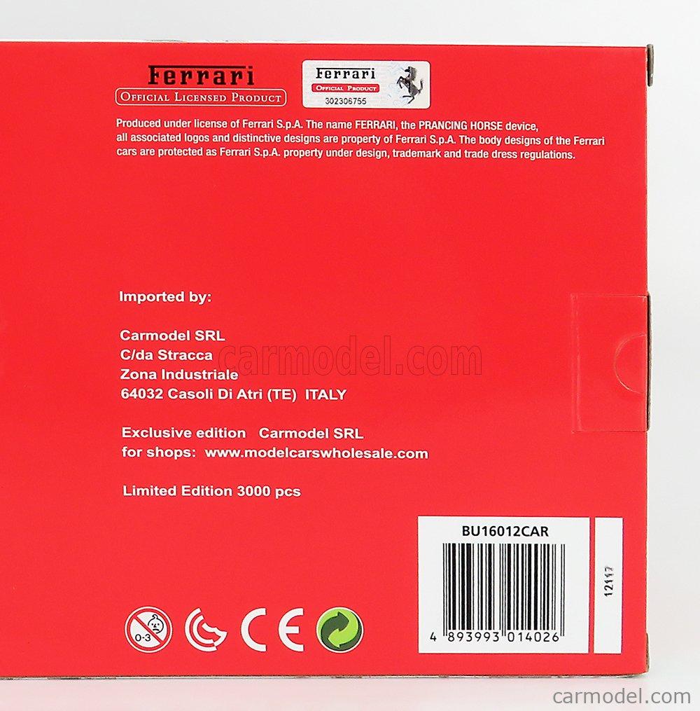 BURAGO BU16012CAR Echelle 1/18  FERRARI FXX-K EVO HYBRID 6.3 V12 1050hp 2018 - EXCLUSIVE CARMODEL RED