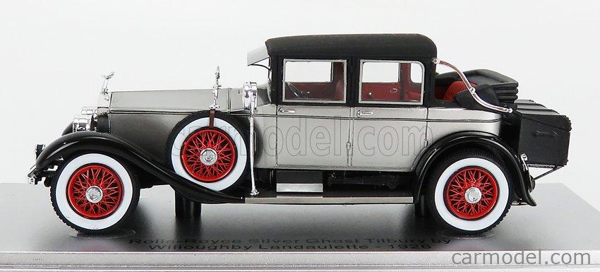KESS-MODEL KE43049021 Scale 1/43  ROLLS ROYCE SILVER GHOST TILBURY SEDAN BY WILLOUGHBY - OPEN - 1926 SILVER BLACK