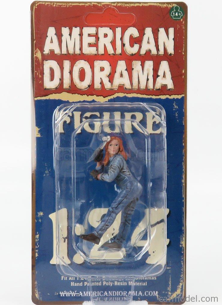 AMERICAN DIORAMA 38344 Masstab: 1/24  FIGURES WOMAN MECHANIC - DONNA MECCANICO - I BLUE