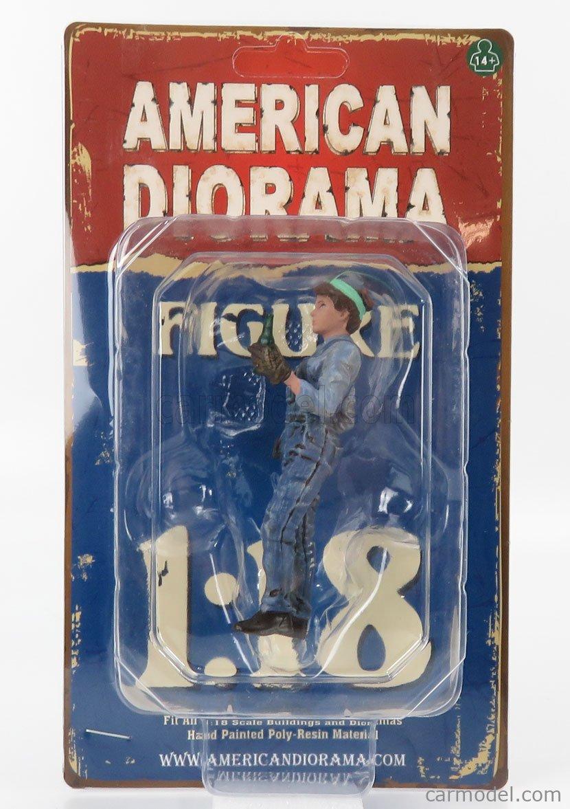 AMERICAN DIORAMA 38247 Scala 1/18  FIGURES WOMAN MECHANIC - DONNA MECCANICO - IV BLUE