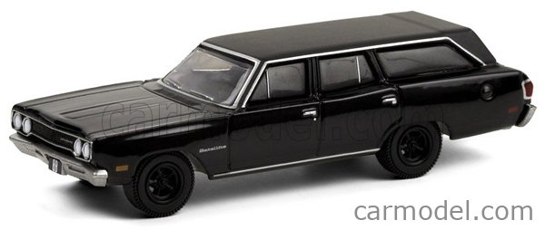 GREENLIGHT 28050A Scale 1/64  PLYMOUTH SATELLITE SW STATION WAGON 1970 - BLACK BANDIT BLACK