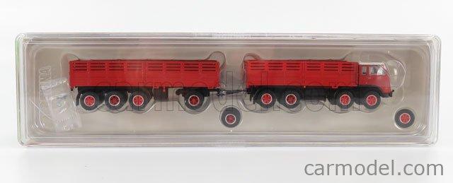 BREKINA PLAST BRE58413 Scale 1/87  FIAT 690 TRUCK MILLEPIEDI 4-ASSI 1961 RED WHITE