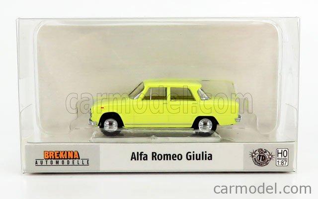 BREKINA PLAST BRE29526 Scale 1/87  ALFA ROMEO GIULIA 1300 SUPER 1970 YELLOW
