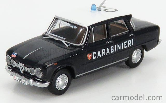 BREKINA PLAST BRE29523 Masstab: 1/87  ALFA ROMEO GIULIA 1600 SUPER CARABINIERI 1970 BLUE WHITE