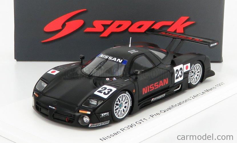 SPARK-MODEL S3575 Scale 1/43  NISSAN R390 GT1 3.5L TURBO N 23 PRE-QUALIFICATIONS 24h LE MANS 1997 K.HOSHINO - E.COMAS - M.KAGEYAMA BLACK