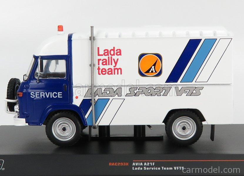 IXO-MODELS RAC293X Scale 1/43  AVIA A21F VAN TEAM VFTS LADA RALLY ASSISTANCE 1982 WHITE BLUE