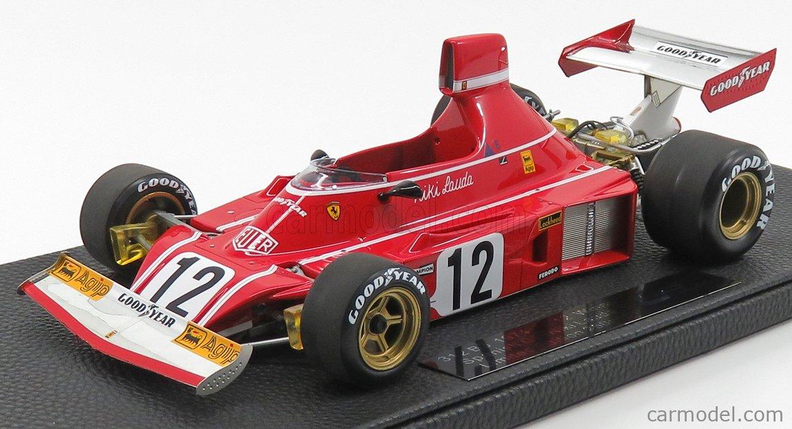 GP-REPLICAS GP025C Scale 1/18  FERRARI F1  312 B3 N 12 WINNER SPAIN GP 1974 NIKI LAUDA RED