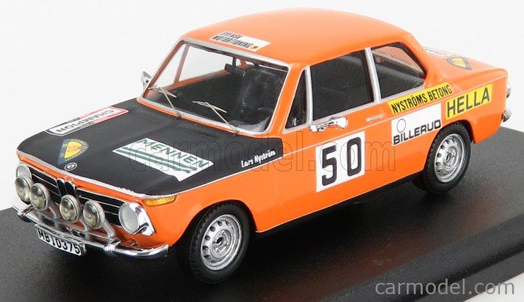 TROFEU TRRSE08 Scale 1/43  BMW 2002Ti N 50 2nd RALLY SWEDEN 1971 L.NYSTROM - O.NYSTROM ORANGE MATT BLACK
