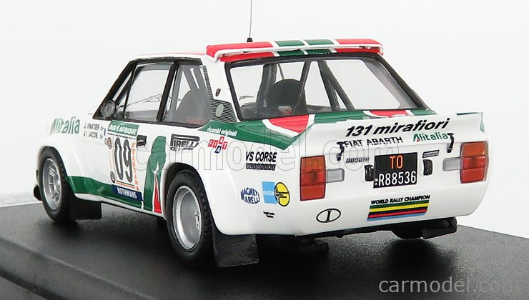TROFEU TRRCi04 Scale 1/43  FIAT 131 ABARTH ALITALIA N 09 RALLY BANDAMA 1978 J.VINATIER - J.F.JACOB WHITE RED GREEN