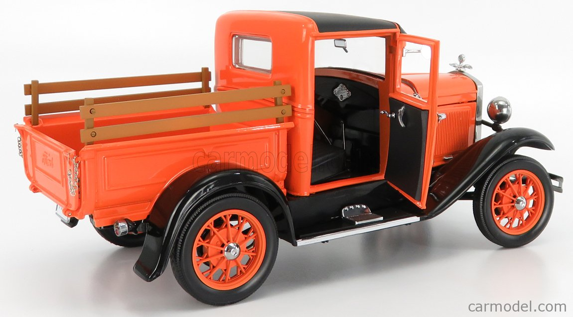 SUN-STAR 06116 Scale 1/18  FORD USA MODEL-A PICK-UP 1931 ORANGE BLACK