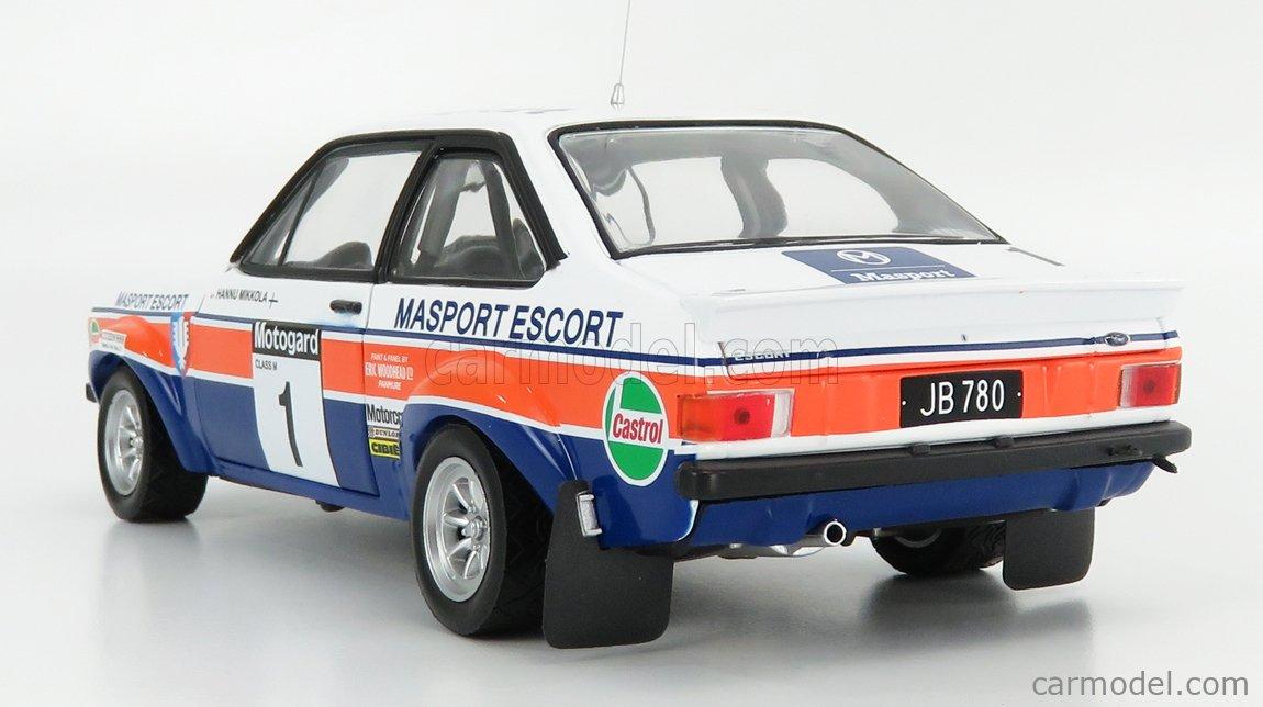 SUN-STAR 04850 Scale 1/18  FORD ENGLAND ESCORT RS1800 (night version) N 1 WINNER RALLY NEW ZEALAND 1979 H.MIKKOLA - A.HERTZ WHITE BLUE ORANGE