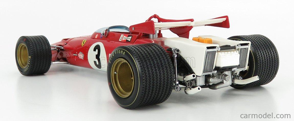 EXOTO EXO97060 Scale 1/18  FERRARI F1 312B N 3 WINNER GP MEXICO 1970 JACKY ICKX RED
