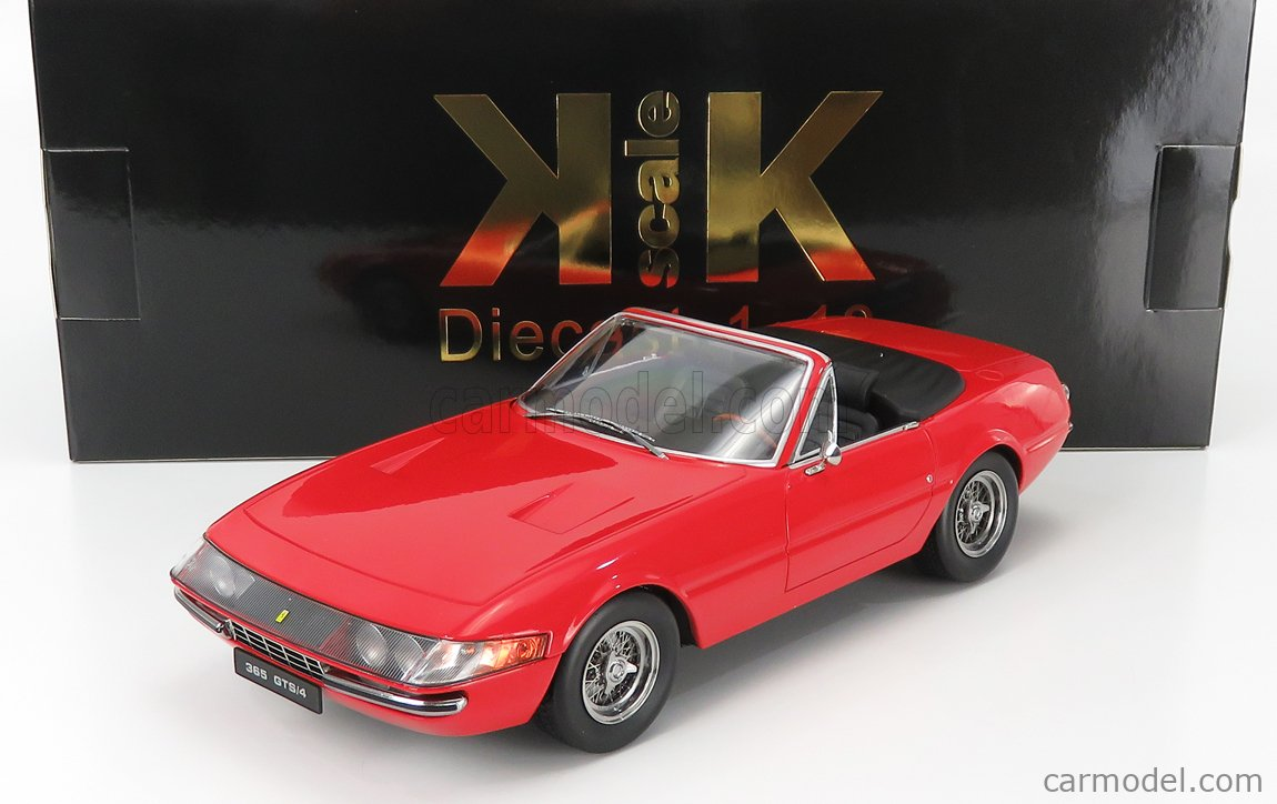 KK-SCALE KKDC180611 Scale 1/18  FERRARI 365 GTB DAYTONA SPIDER OPEN 1969 RED