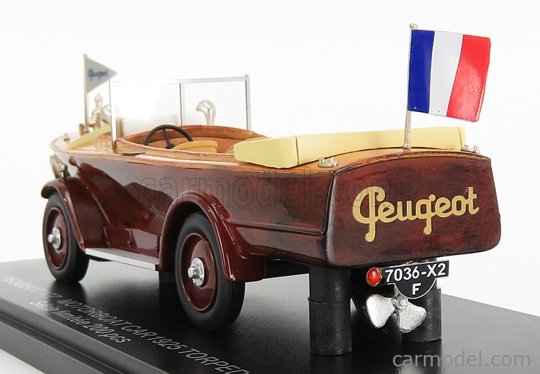 FRANSTYLE FRANSTYLE0013 Echelle 1/43  PEUGEOT 177 CAR MOTORBOAT 1925 2 TONE BROWN WOOD