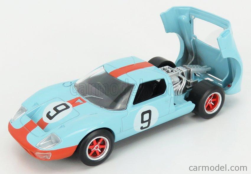 NOREV JET-CAR270567 Masstab: 1/43  FORD USA GT40 4.9L V8 TEAM JW AUTOMOTIVE ENGINEERING GULF N 9 WINNER 24h LE MANS 1968 L.BIANCHI - P.RODRIGUEZ LIGHT BLUE ORANGE