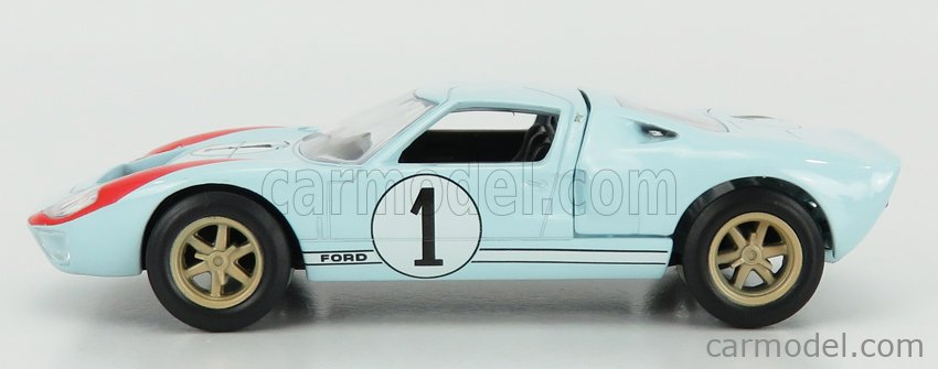 NOREV JET-CAR270568 Scale 1/43  FORD USA GT40 MKII 7.0L V8 TEAM SHELBY AMERICAN INC. N 1 2nd (BUT REALLY WINNER) 24h LE MANS 1966 K.MILES - D.HULME LIGHT BLUE