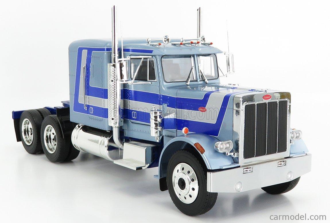 ROAD-KINGS RK180084 Scale 1/18  PETERBILT 359 TRACTOR TRUCK 3-ASSI 1967 LIGHT BLUE MET SILVER