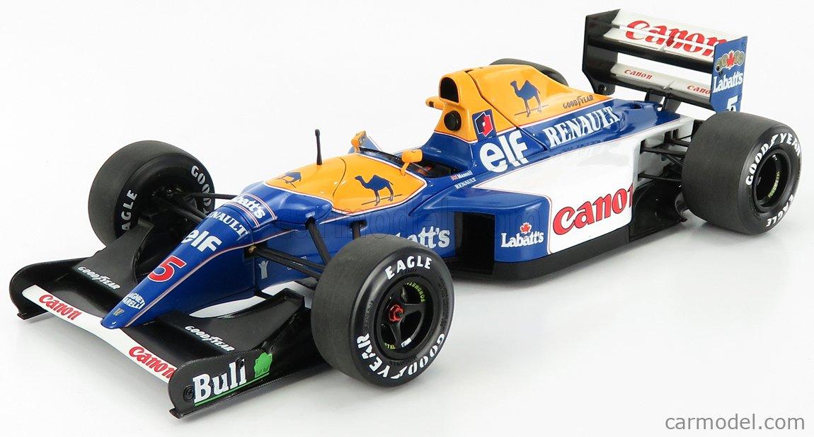 EXOTO EXO97111 Scale 1/18  WILLIAMS F1  FW14B RENAULT N 5 NIGEL MANSELL SEASON 1992 WORLD CHAMPION BLUE YELLOW WHITE