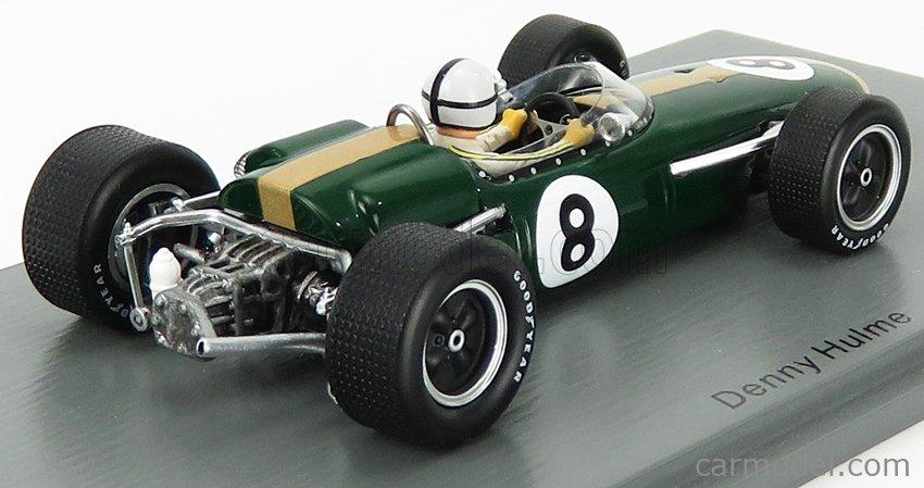 SPARK-MODEL S7091 Масштаб 1/43  BRABHAM F1  BT22 N 8 MONACO GP 1966 D.HULME GREEN