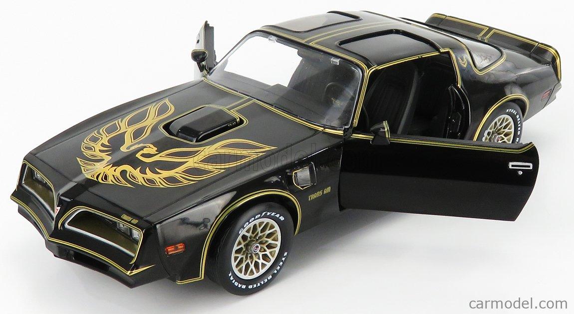 GREENLIGHT 19098 Echelle 1/18  PONTIAC FIREBIRD TRANS-AM 1977 BLACK GOLD
