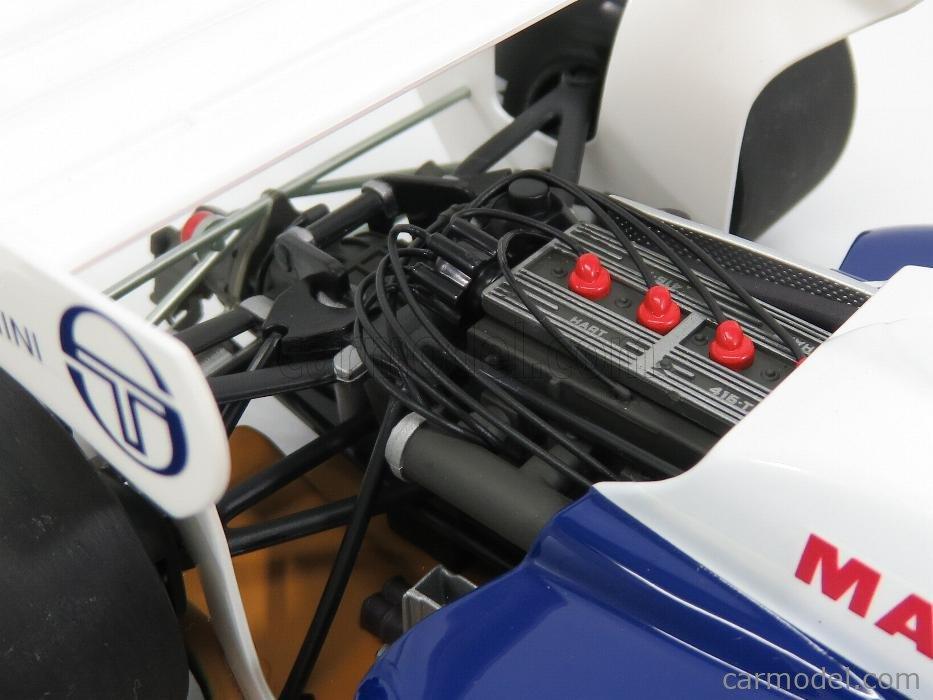 MINICHAMPS 540841819-2 Masstab: 1/18  TOLEMAN F1  HART TG183B N 19 2nd MONACO GP 1984 AYRTON SENNA WHITE BLUE RED