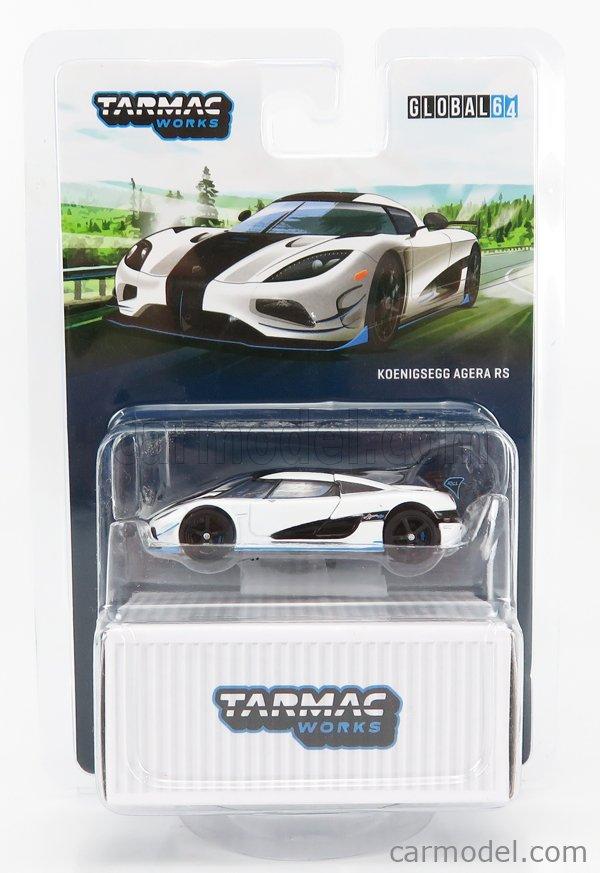 TARMAC T64G-005RS1 Echelle 1/64  KOENIGSEGG AGERA RS 2015 WHITE BLACK