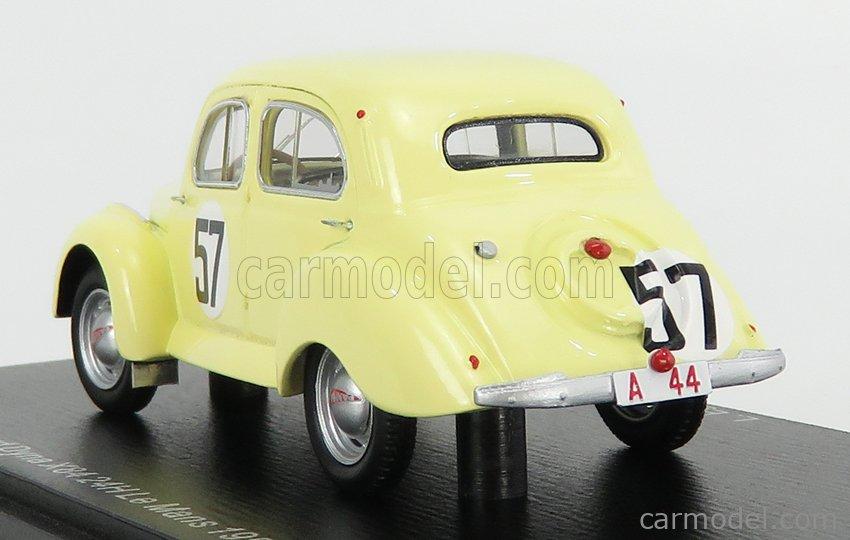 SPARK-MODEL S5209 Masstab: 1/43  PANHARD DYNA X84 611cc TEAM L.EGGEN N 57 24h LE MANS 1950 L.EGGEN - ESCALE YELLOW