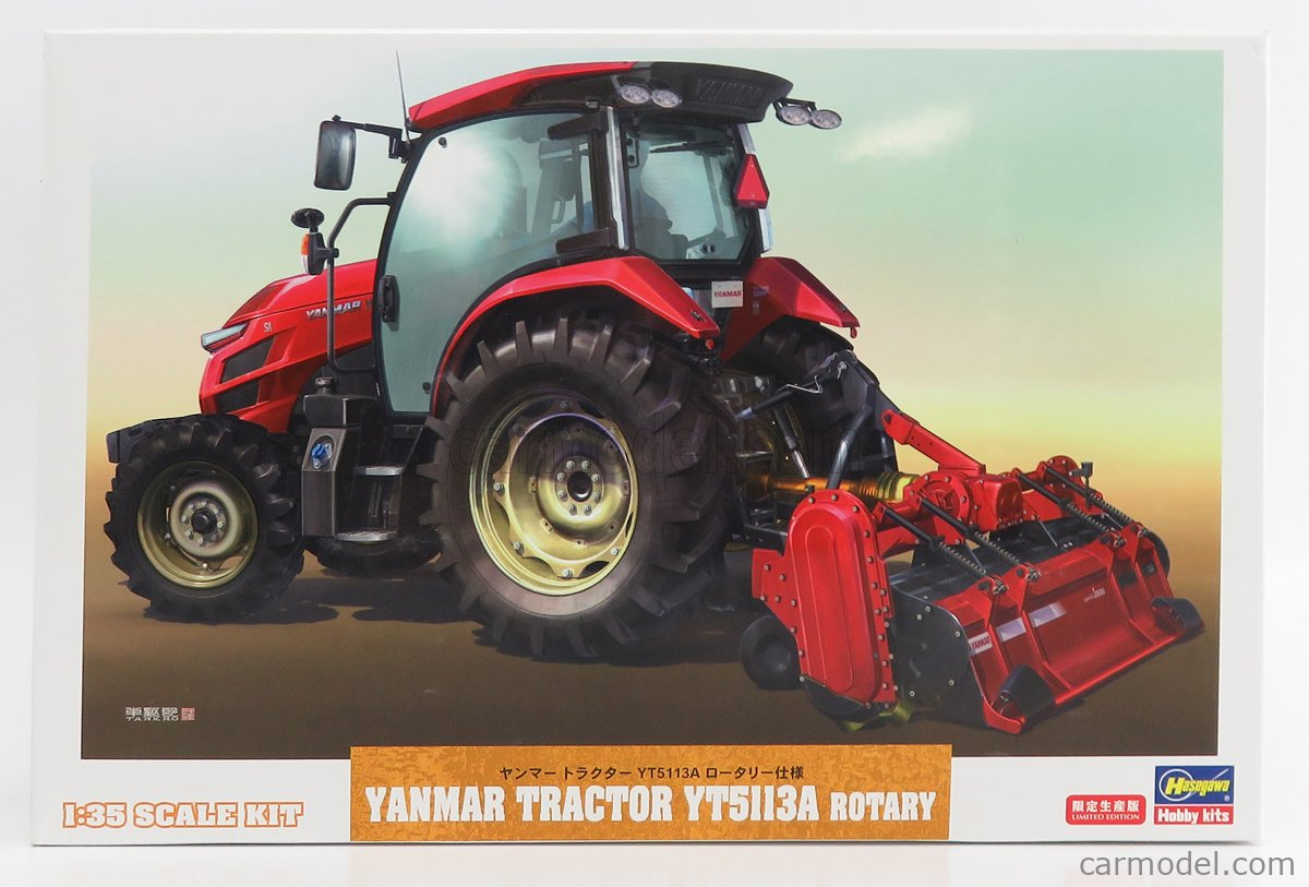 HASEGAWA 66106 Масштаб 1/35  YANMAR YT5113A TRACTOR WITH ROTARY TRAILER /