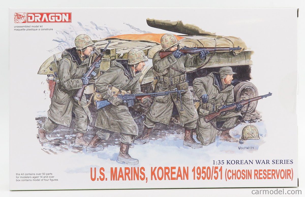 DRAGON ARMOR 6802 Echelle 1/35  FIGURES SOLDATI - SOLDIERS MILITARY US MARINS KOREAN 1950 /