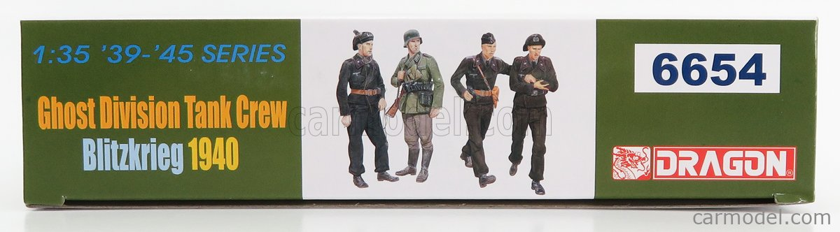 DRAGON ARMOR 6654 Scale 1/35  FIGURES SOLDATI - SOLDIERS MILITARY TANK CREW GHOST DIVISION 1940 /