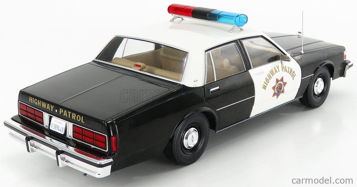 MCG MCG18218 Echelle 1/18  CHEVROLET CAPRICE HIGHWAY CALIFORNIA POLICE 1987 BLACK WHITE