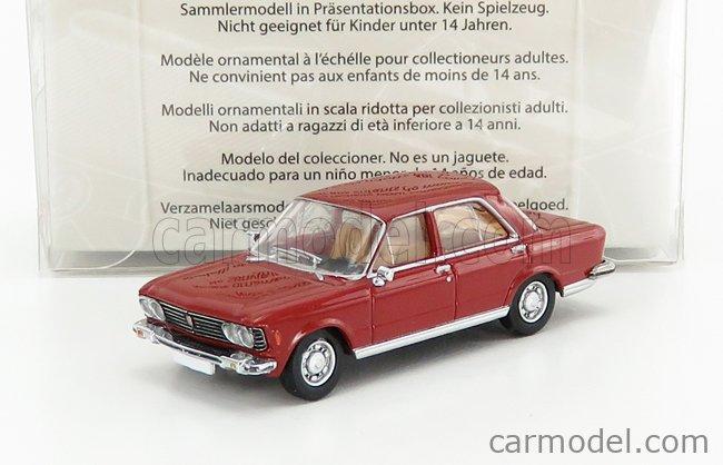 PREMIUM CLASSIXXS PCX870058 Echelle 1/87  FIAT 130 1969 RED