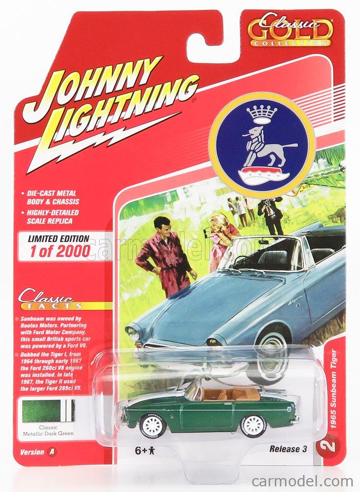 JOHNNY LIGHTNING JLCG023A-2 Scale 1/64  SUNBEAM TIGER SPIDER 1965 DARK GREEN