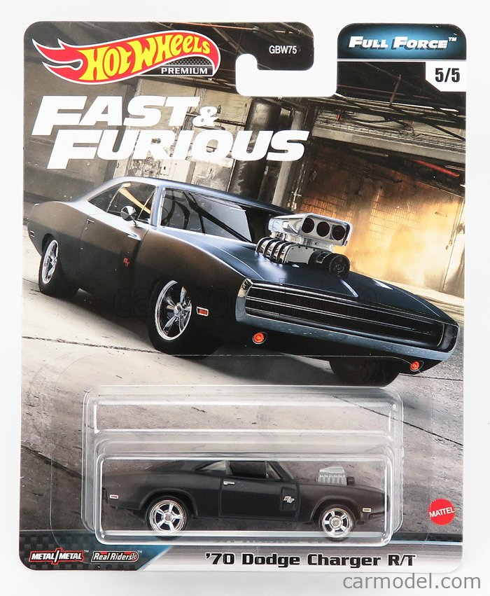 MATTEL HOT WHEELS GRM15-5 Scale 1/64  PLYMOUTH SET 5X FAST & FURIOUS - DOM'S GTX COUPE 1971 - ACURA NSX 2017 - MAZDA DOM'S RX-7 1995 - JAGUAR XE SV PROJECT 8 2019 - DODGE DOM'S DODGE CHARGER R/T 1970 VARIOUS