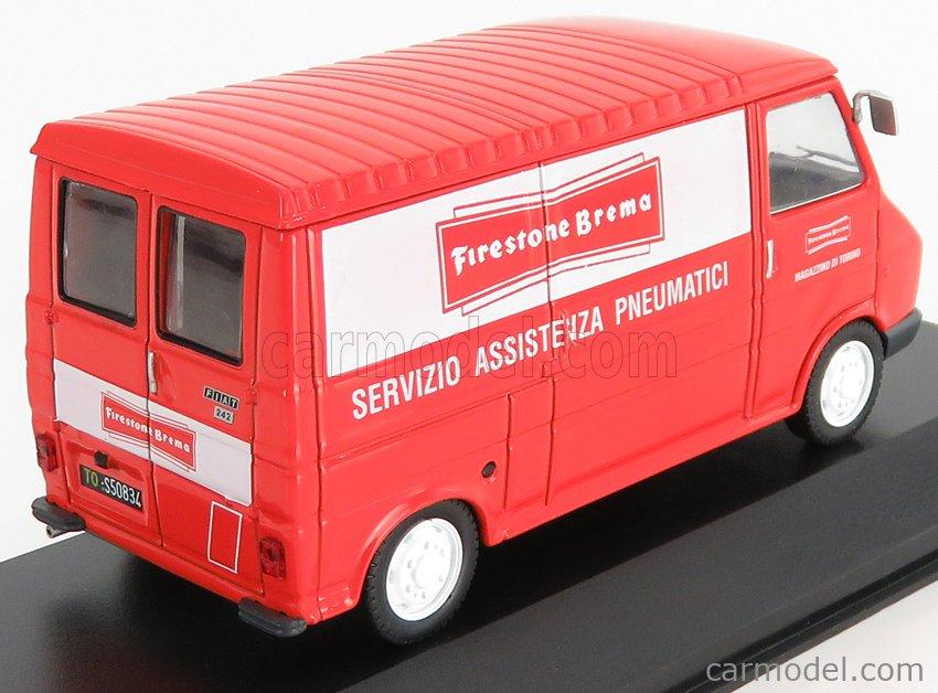 EDICOLA VCDE031 Echelle 1/43  FIAT 242 VAN 1 SERIES FIRESTONE BREMA 1976 RED WHITE