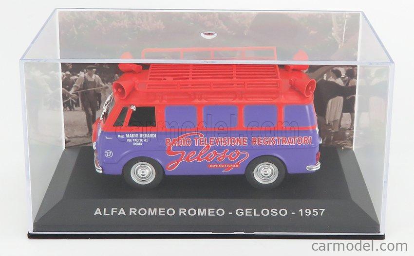 EDICOLA VCDE029 Echelle 1/43  ALFA ROMEO ROMEO 1 VAN GELOSO 1960 RED PURPLE