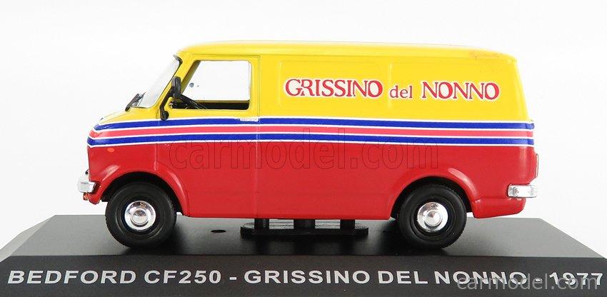 EDICOLA VCDE026 Scale 1/43  BEDFORD GM CF250 VAN GRISSINO DEL NONNO 1979 RED YELLOW