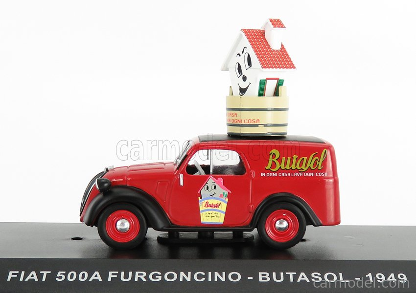 EDICOLA VCDE025 Echelle 1/43  FIAT 500 FURGONCINO VAN BUTASOL 1948 RED BLACK