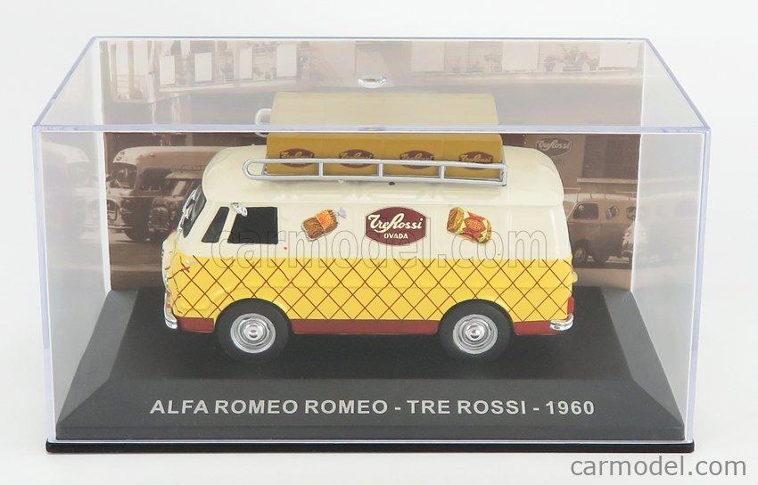 EDICOLA VCDE023 Echelle 1/43  ALFA ROMEO ROMEO 1 VAN TRE ROSSI 1960 CREAM YELLOW