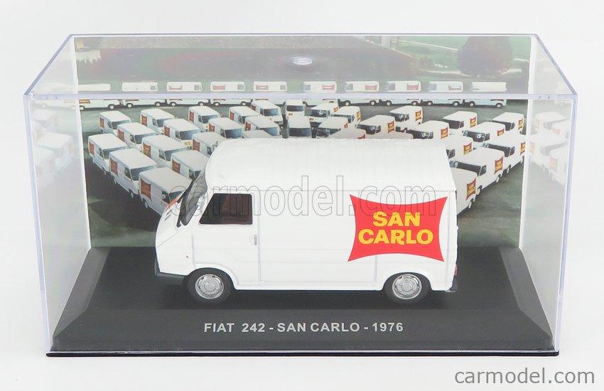 EDICOLA VCDE020 Echelle 1/43  FIAT 242 VAN 1 SERIES SAN CARLO 1976 WHITE RED