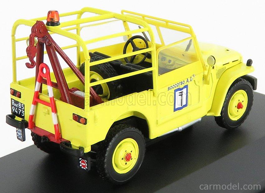 EDICOLA VCDE019 Echelle 1/43  FIAT CAMPAGNOLA ACI 1965 - CARRO ATTREZZI - WRECKER ROAD SERVICE YELLOW