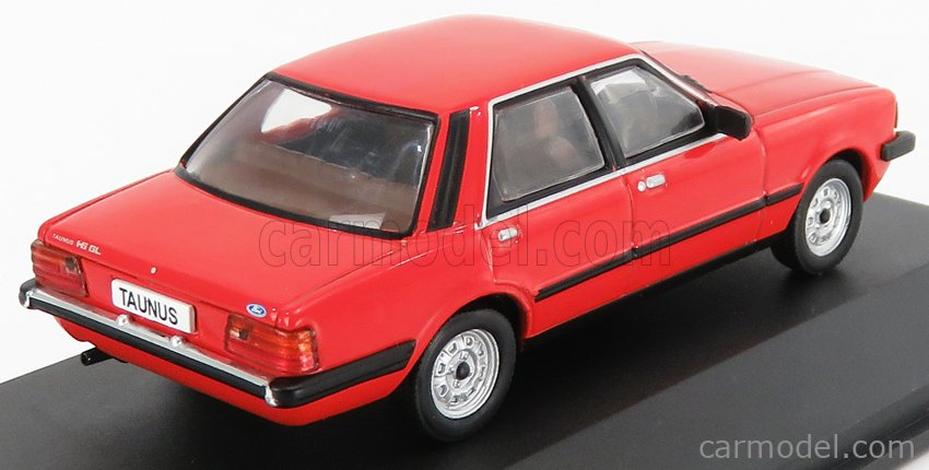 EDICOLA ABADD104 Echelle 1/43  FORD ENGLAND TAUNUS 1980 - CON VETRINA - WITH SHOWCASE RED