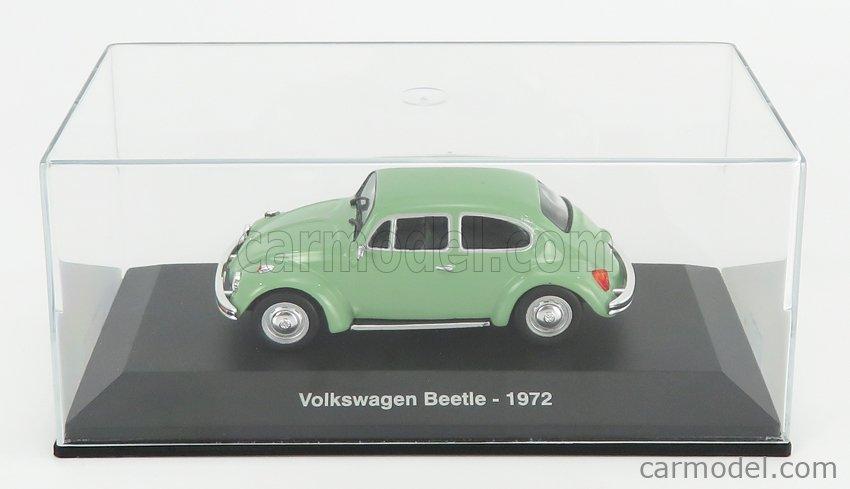 EDICOLA ABADD103 Echelle 1/43  VOLKSWAGEN BEETLE MAGGIOLINO 1972 - CON VETRINA - WITH SHOWCASE LIGHT GREEN