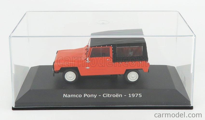 EDICOLA ABADD102 Scale 1/43  CITROEN NAMCO PONY CABRIOLET CLOSED 1975 - CON VETRINA - WITH SHOWCASE RED BLACK