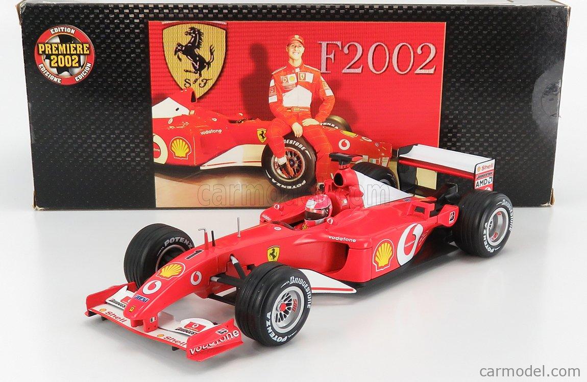 MATTEL HOT WHEELS 54643 Scale 1/18  FERRARI F1  F2002 N 1 MICHAEL SCHUMACHER 2002 WORLD CHAMPION RED