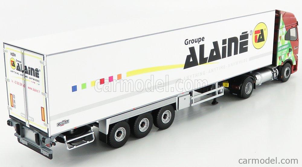 ELIGOR 116948 Echelle 1/43  IVECO FIAT S-WAY S460 NP TRUCK SEMI-FRIGO GROUPE ALAINE TRANSPORTS 2019 RED GREEN WHITE