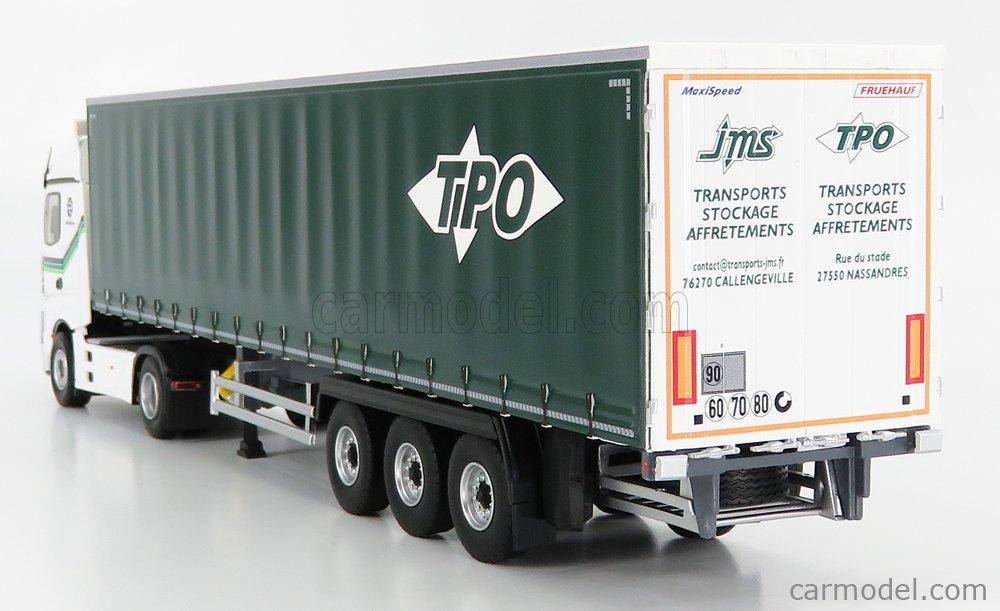ELIGOR 116909 Echelle 1/43  MERCEDES BENZ ACTROS 5 1848 TRUCK TELONATO TPO TRANSPORTS 2018 WHITE GREEN