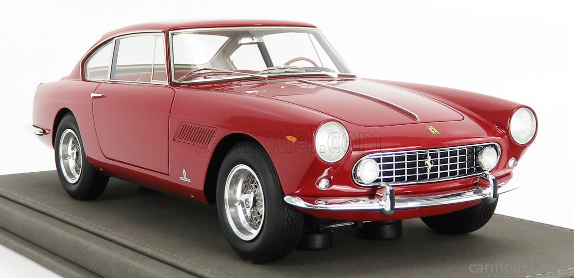 BBR-MODELS BBR1850A-VET Echelle 1/18  FERRARI 250 GTE 2+2 s/n 2999GT 1-SERIES 1960 - CON VETRINA - WITH SHOWCASE RED