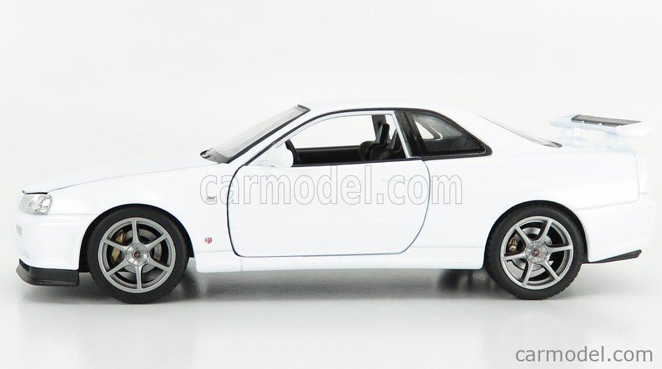 WELLY WE24108W Scale 1/24  NISSAN SKYLINE GT-R (R34) 1999 WHITE